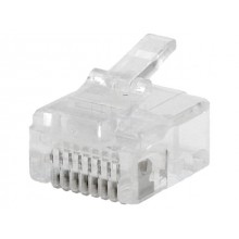 PLUG RJ45 8P8C CRIMP CABLE REDONDO (10u)