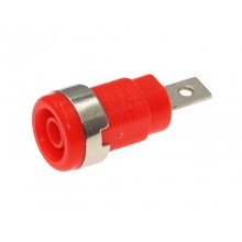 SOCKET BANANA 4mm 1000V 20A PANEL ROJO