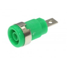 SOCKET BANANA 4mm 1000V 20A PANEL VERDE