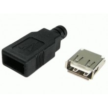 CONECTOR USB-A HEMBRA CABLE